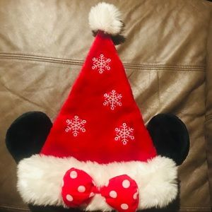 Women's Or Girls Minnie Mouse Santa Christmas Hat